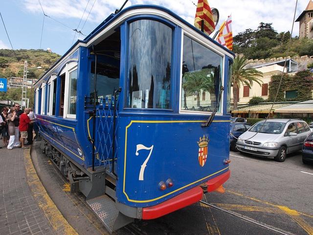 Tranvía azul histórico Barcelona
