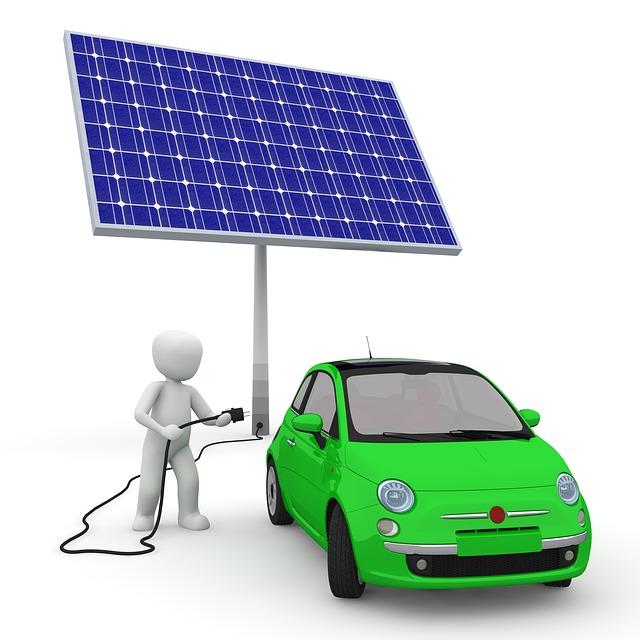 Energía solar coche electrico