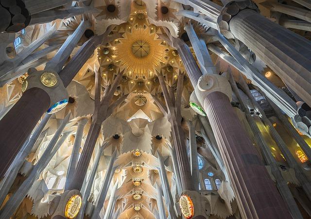 Ceilings of the Sagrada Familia