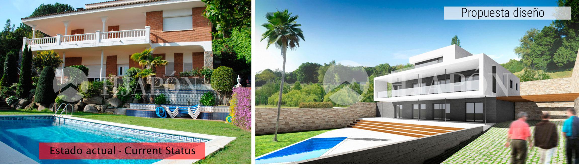 Transformacion de una casa de diseño en Alella
