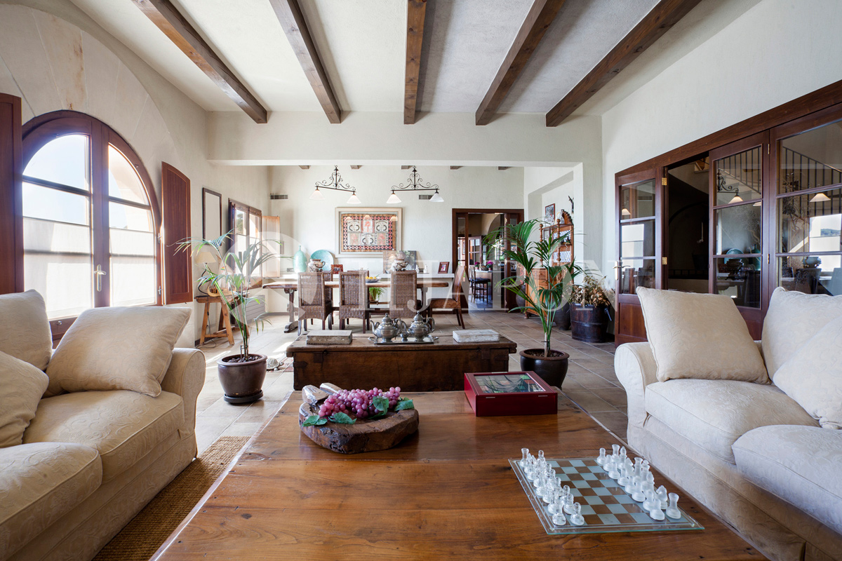 Rustic style interior Luxury villa for sale in Alella