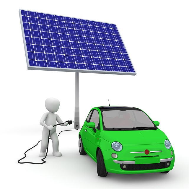 Solar energy electric car